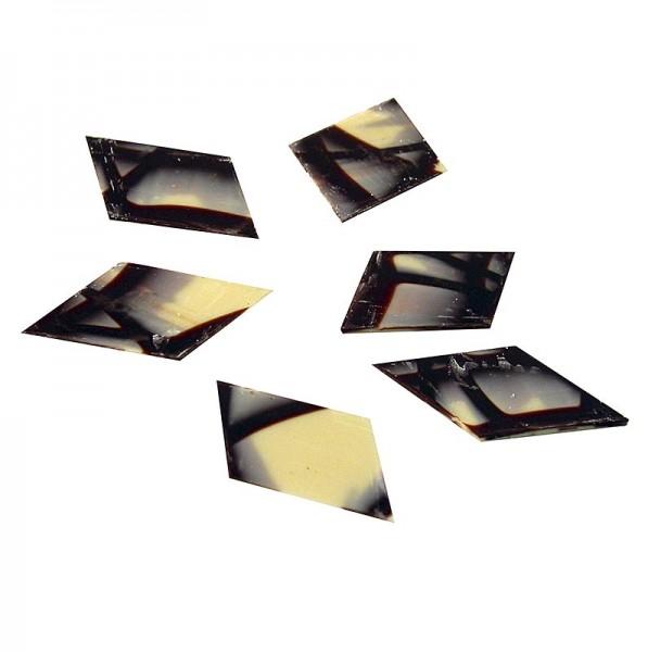 Jura - Deko-Aufleger Jura Rhombus - Raute weiße/dunkle Schokolade 40x60mm