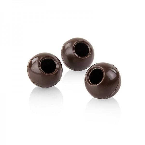 Läderach - Trüffel-Hohlkugeln Zartbitterschokolade ø 29mm Läderach