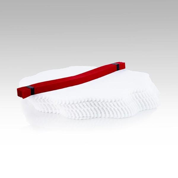 The Original Lemon Wraps - The Original Lemon Wraps - Zitronenserviertuch weiß mit roter Krawatte