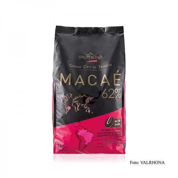 Valrhona - Macae Grand Cru dunkle Couverture Callets 62% Kakao Brasilien
