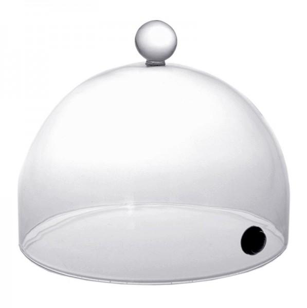 Aladin-Profi - Räucher-Glasglocke Rubi mit Ventil 18cm für Super-Aladin-Profi