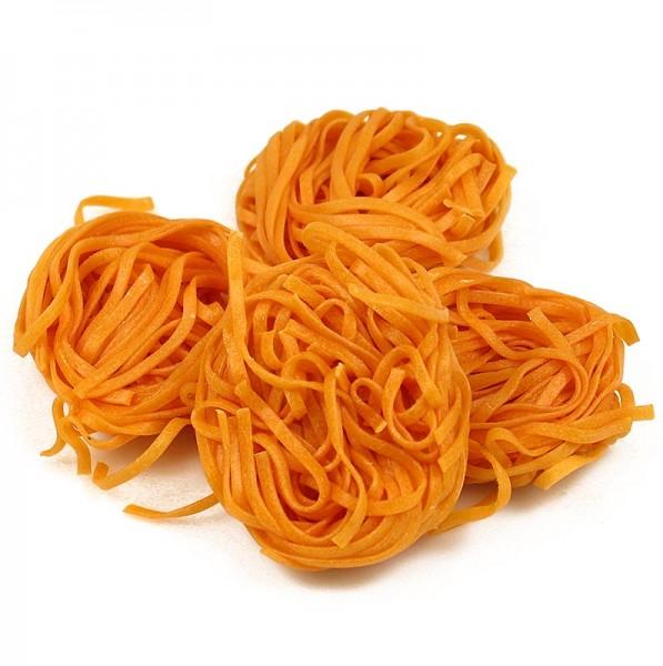 Sassella - Frische Tagliarini mit Tomate rot Bandnudel 3mm Sassella