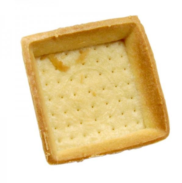 Hug - Dessert-Tartelettes quadratisch 7x7cm H 1.8cm hell Mürbeteig