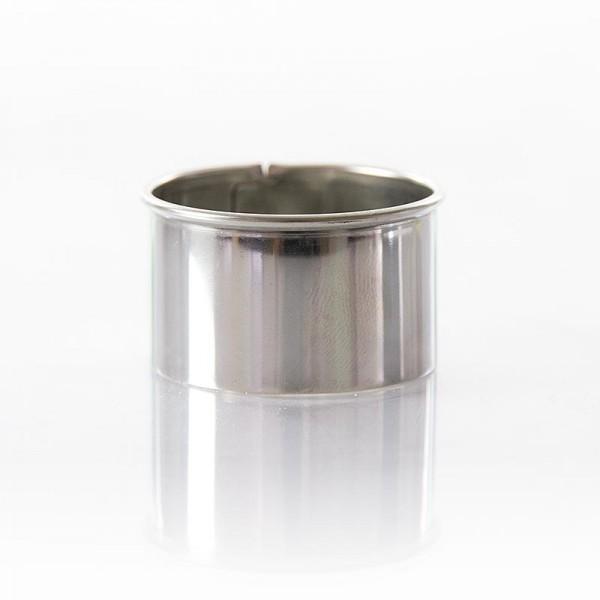 Deli-Vinos Kitchen Accessories - Edelstahlring-Ausstecher glatt ø 4cm 2.5cm hoch 0.3mm stark