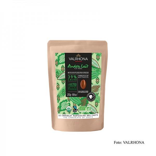 Valrhona - Valrhona Andoa Lait Milchschokolade 39% Callets (a. fairem Handel) BIO
