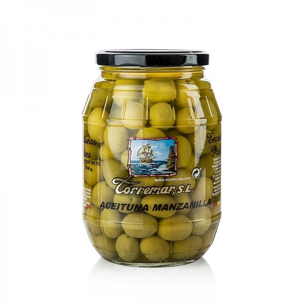 Torremar - Grüne Oliven Manzanilla mit Kern 1kg (Atg. 600g) Torremar S.L.