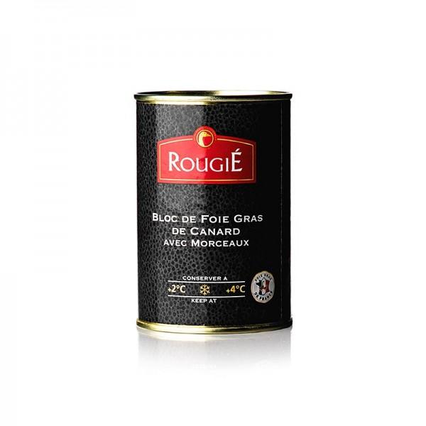 Rougie - Entenleberblock mit Stücken rund Halbkonserve 98% Foie Gras Rougié