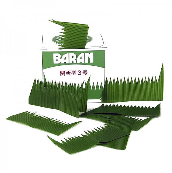Baran - Sushi-Dekoration - Baran zugeschnittene grüne Blätter Kunststoff