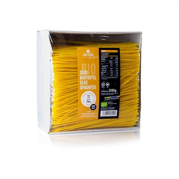 Just Taste - Gelbe Süßkartoffel Glasnudel Spaghetti Just Taste BIO