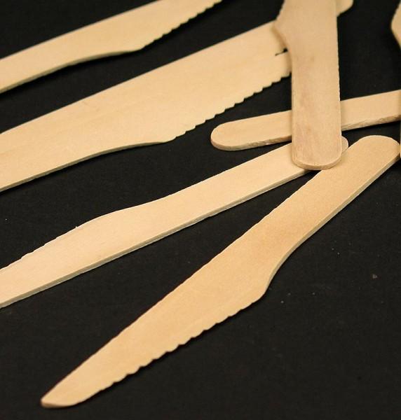 Deli-Vinos Kitchen Accessories - Einweg Holz-Messer ca. 16.5cm lang
