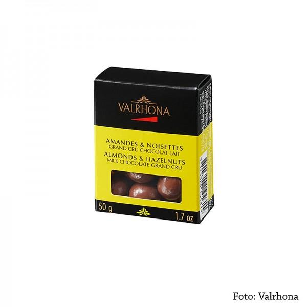 Valrhona - Valrhona Equinoxe Kugel 50g Mandeln & Haselnuss Milchschokolade (11255)