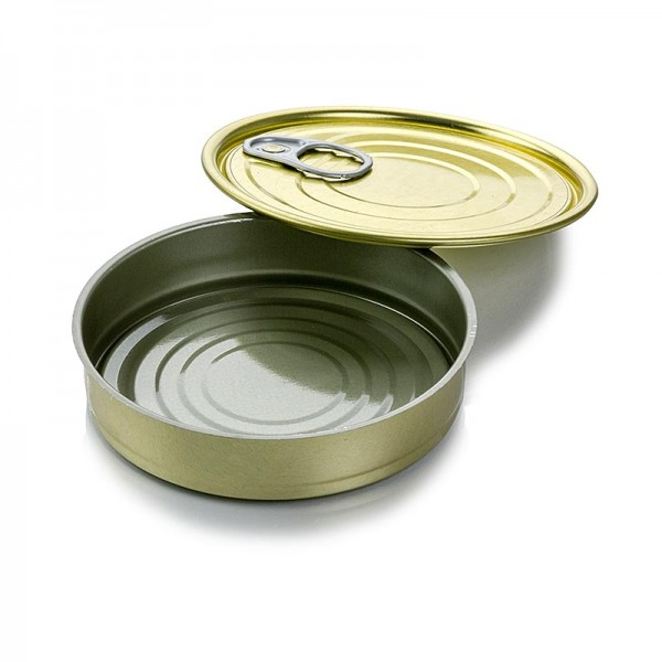 Deli-Vinos Kitchen Accessories - Dose mit Deckel zum Füllen rund ø120x22mm 120ml Alu säurebeständig