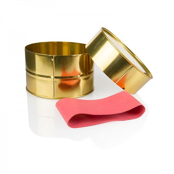 Deli-Vinos Kitchen Accessories - Kaviardose Gold mit Gummi leer 1kg Ø12.5 cm