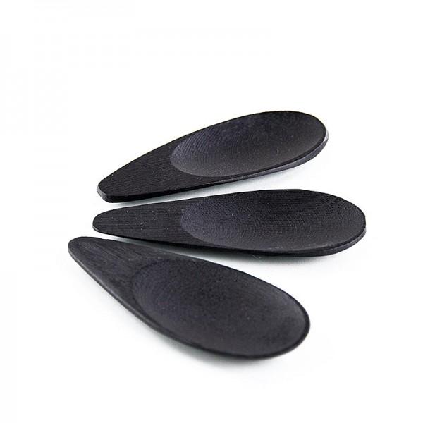 Deli-Vinos Kitchen Accessories - Bambusschale in Löffelform schwarz 10x3.8cm spülmaschinenfest 25 Stück