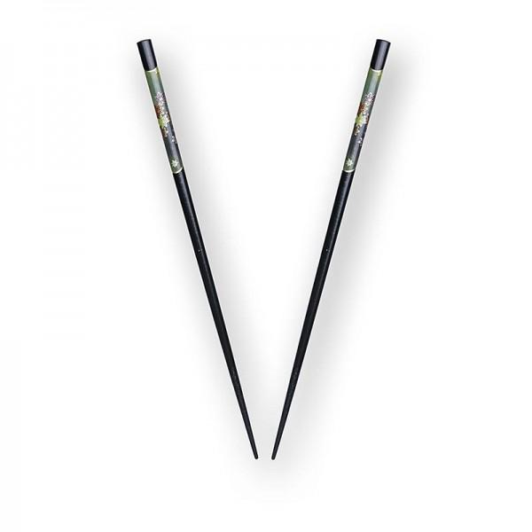 Deli-Vinos Kitchen Accessories - Sushi-Stäbchen schwarz lackiert mit edlem Dekor