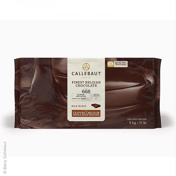 Callebaut - Vollmilch dünnfließend Block 33% Kakao