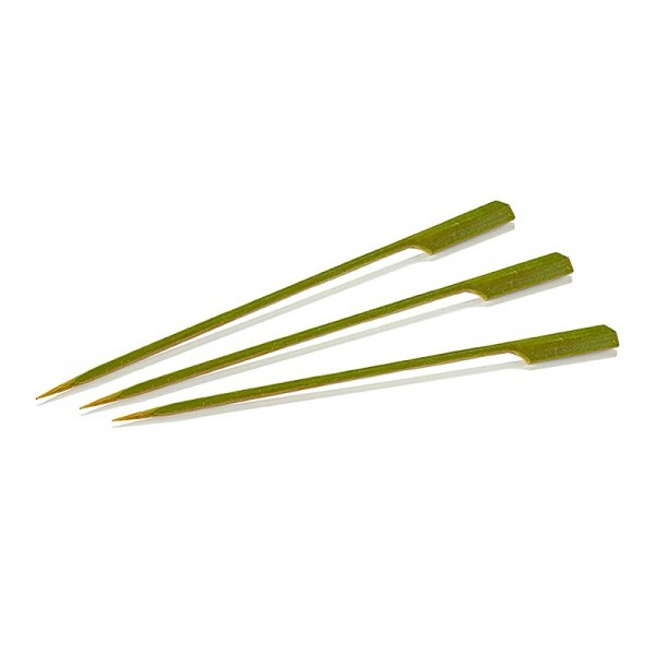 Deli-Vinos Kitchen Accessories - Bambus-Spieße mit Blattende 18cm