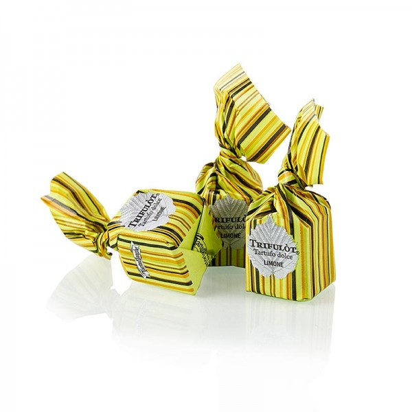 Tartuflanghe - Mini Trüffel-Pralinen Alba Limone (Zitrone) 1kg (grün) Tartuflanghe