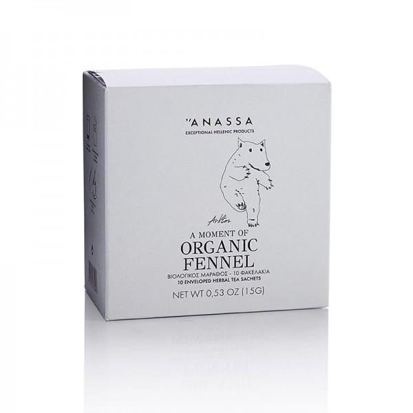 Anassa - ANASSA Fennel Tea (Fenchel Tee) 10 einzeln verpackte Beutel BIO
