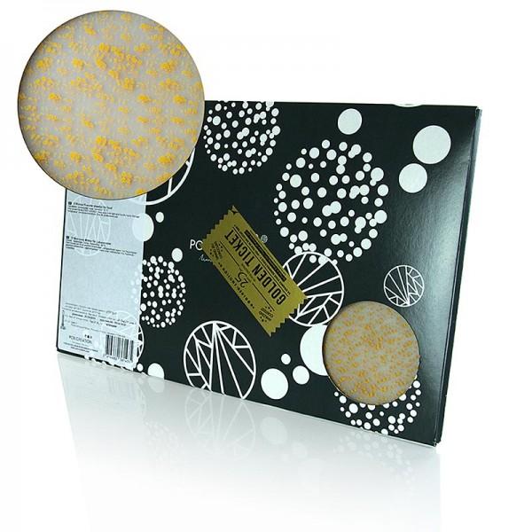PCB Creation - Dekor-Abziehfolie Paris Gold (gelbgoldene Flecken) für Schokolade 40x25cm