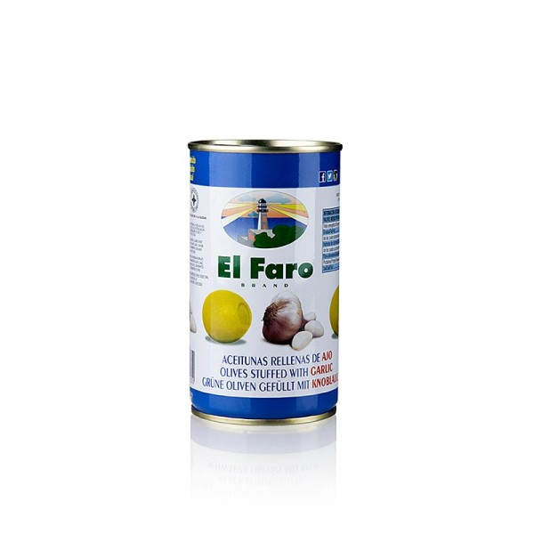 El Faro - Grüne Oliven mit Knoblauchpaste in Lake El Faro