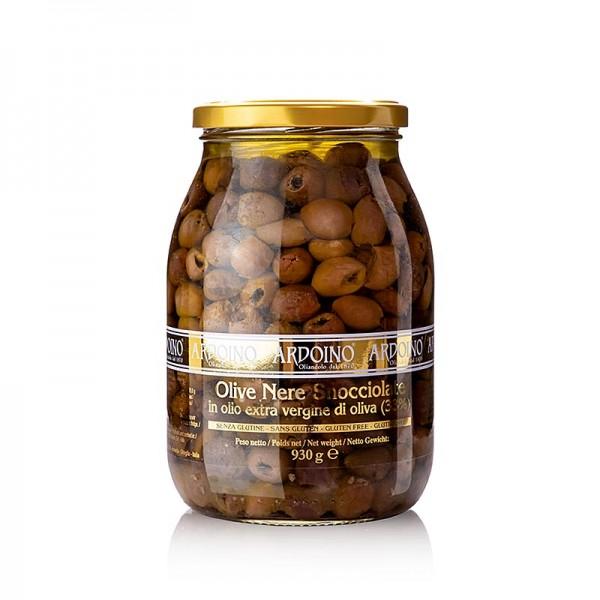 Ardoino - Schwarze Oliven ohne Kern (Snocciolate) in Olivenöl Ardoino