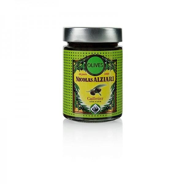 Cailletier - Cailletier Oliven bunt mit Kern eingelegt Alziari (Frankreich)
