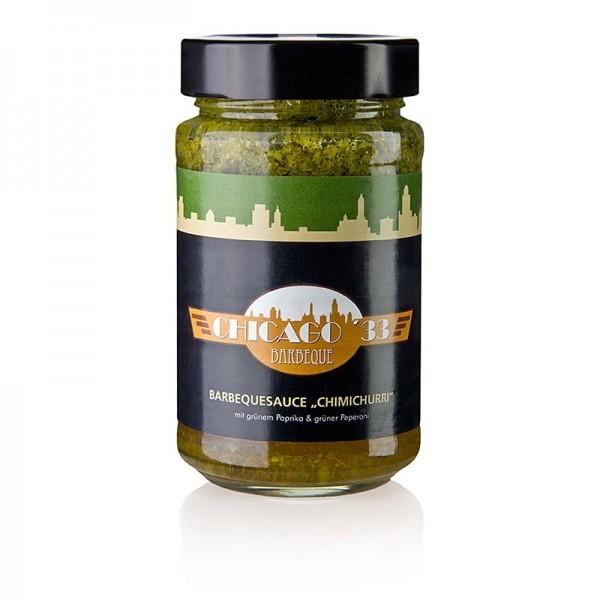 Gewürzgarten Selection - CHICAGO ´33 Chimichurri grün BBQ-Sauce mit grünem Paprika & grüner Peperoni