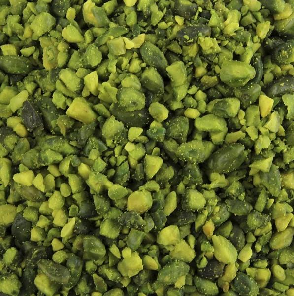 Deli-Vinos Snack Selection - Pistazien geschält extragrün gehackt (2-3mm) Topqualität