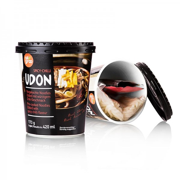 Allgroo - Instant Udon Cup Nudeln Spicy Chili (scharf) Südkorea Allgroo