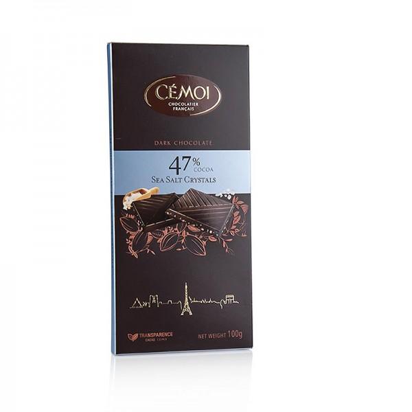 Cemoi Truffes - Schokoladen Tafel - Zartbitter 47% Kakao mit Fleur de Sel Cémoi