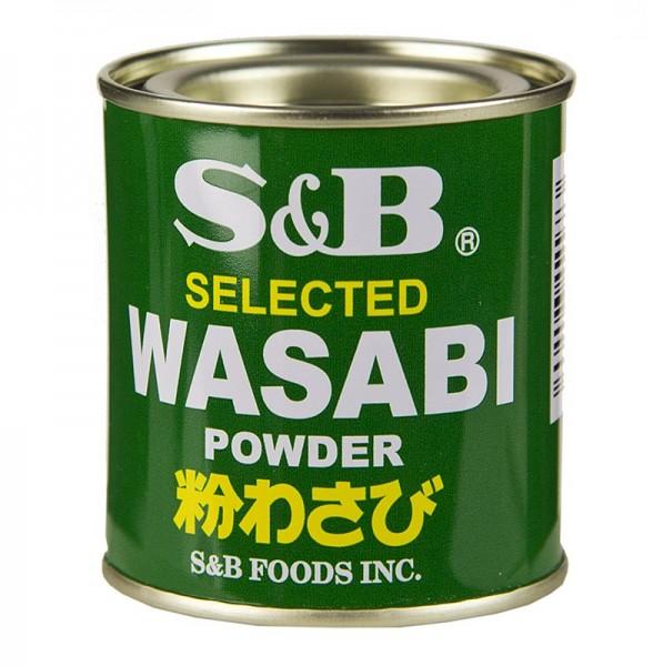 S&B - Wasabi - Grünes Meerrettich-Pulver mit echtem Wasabi