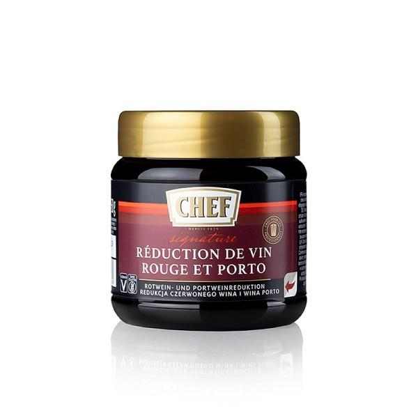 Chef Fond Premium - Chef Premium Konzentrat - Rotwein & Portwein Reduktion für ca.12 Liter)