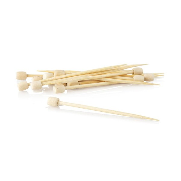 Deli-Vinos Kitchen Accessories - Bambus-Spieße Drum 7cm mit weißem Knauf