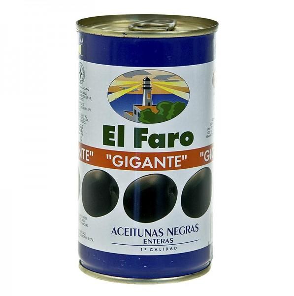 El Faro - Schwarze Oliven mit Kern Giants geschwärzt in Lake El Faro