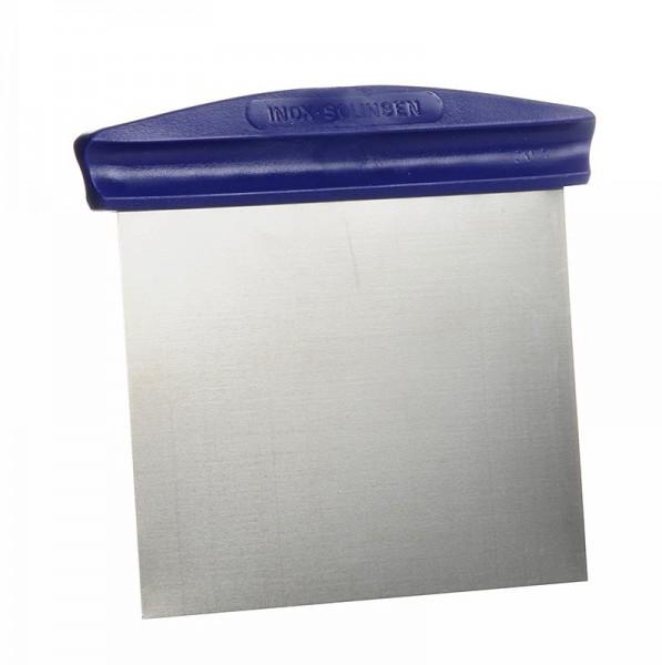Deli-Vinos Kitchen Accessories - Teigschaber 12x8cm flexible Edelstahlklinge mit Kunststoffgriff