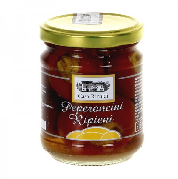 Casa Rinaldi - Eingelegte gefüllte Peperoncini Kirschpaprika mit Thunfischcreme Casa Rinaldi