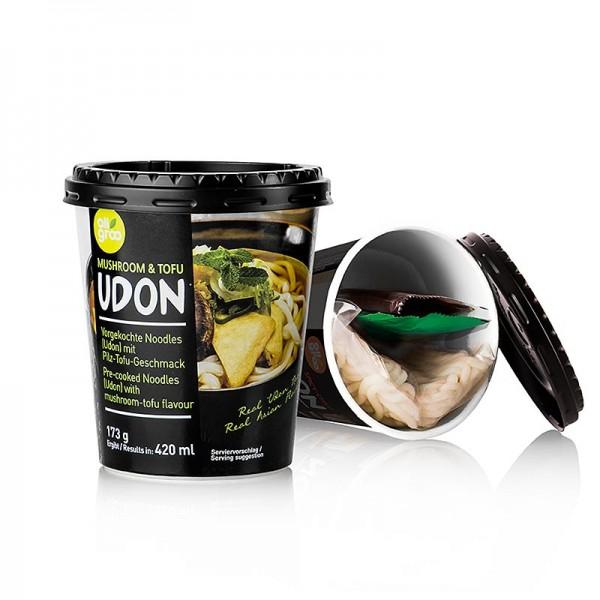 Allgroo - Udon Cup Nudeln Mushroom & Tofu (Pilz) Südkorea Allgroo