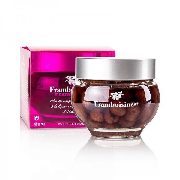 Framboisines - Framboisines - eingelegte Himbeeren in Himbeerlikör & Himbeergeist 15% Vol.