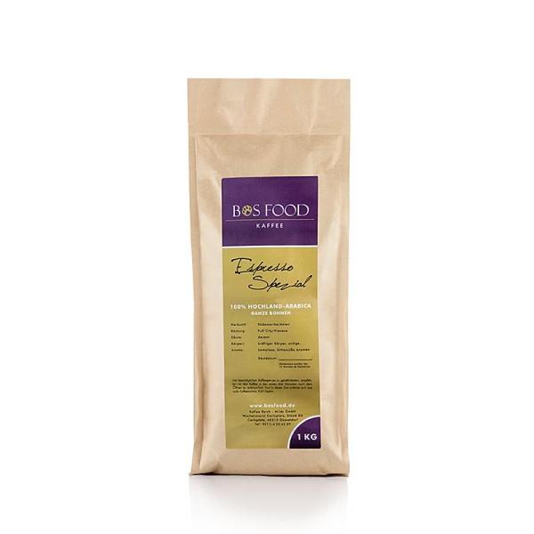 Bos Food - BOS FOOD Spezial - Espresso 100% Hochlandarabica ganze Bohnen