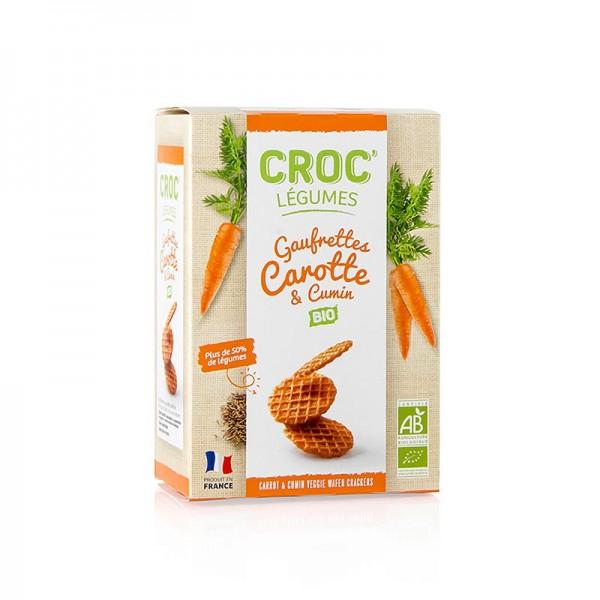 Croc Légumes - Barsnack Croc Légumes - franz. Mini-Waffeln mit Karotte & Cumin BIO