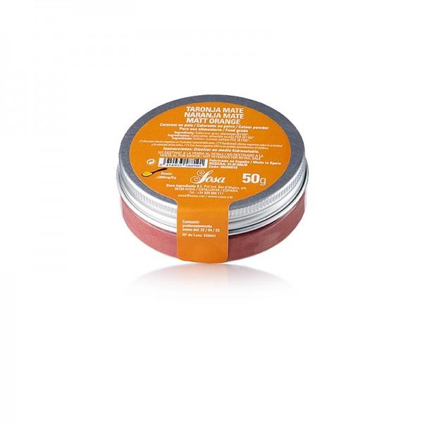 Sosa - Lebensmittelfarbe orange matt wasserlösliches Puder