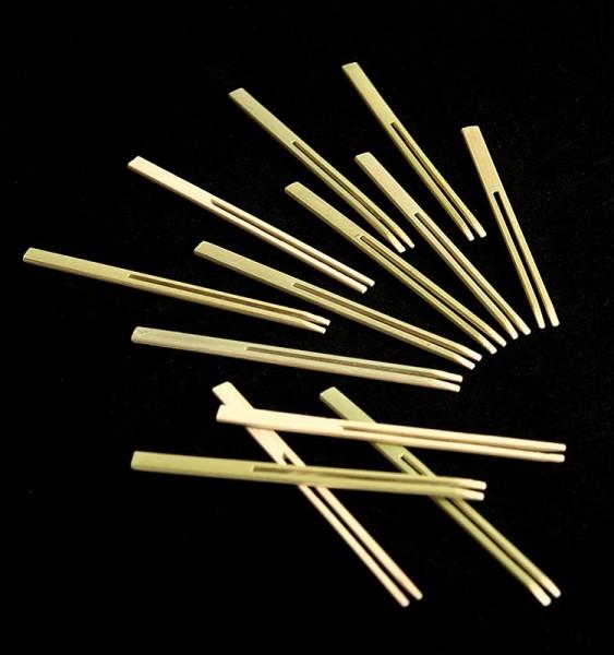Deli-Vinos Kitchen Accessories - Bambus-Spieße Stimmgabeln 10cm