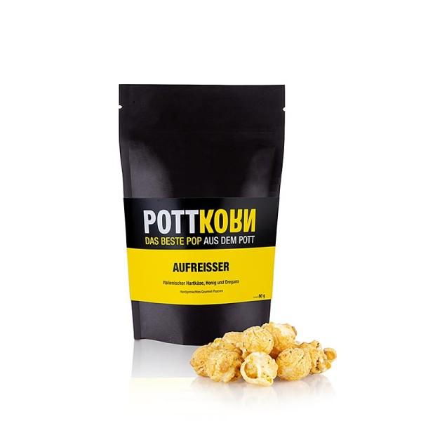 Pottkorn - Pottkorn - Aufreisser Popcorn mit Hartkäse Pfirsich & Thymian