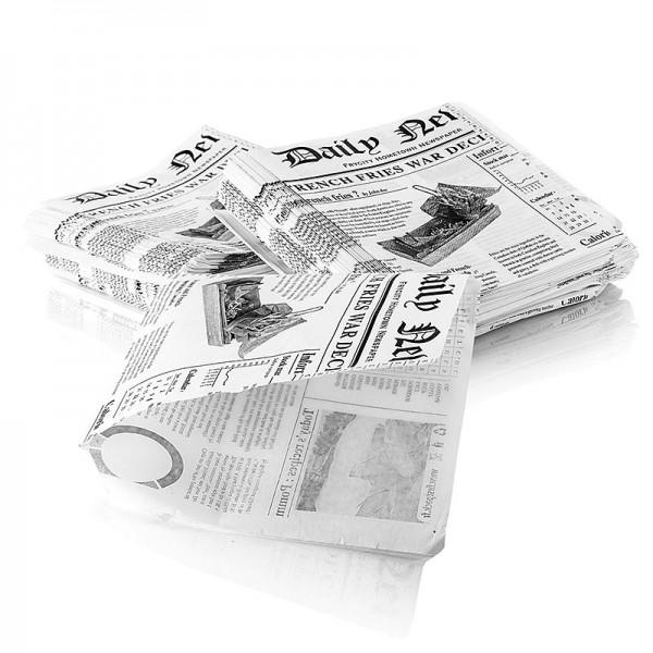 Deli-Vinos Kitchen Accessories - Snack Tüte mit Zeitungspapierdruck ca.170x170mm