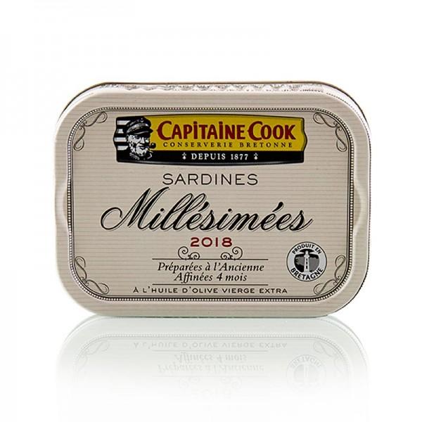 Capitaine Cook - Sardinen in Olivenöl Jahrgang 2018 Frankreich