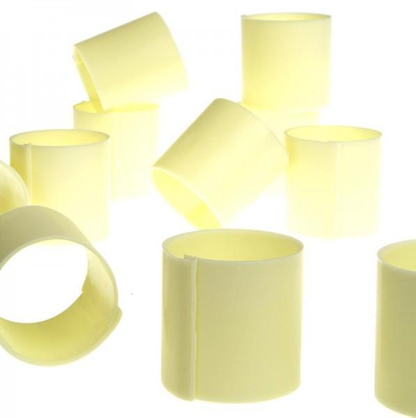 Deli-Vinos Patisserie - Schokoform - Cannelloni/Zylinder weiß ohne Dekor ø 35mm 35mm hoch