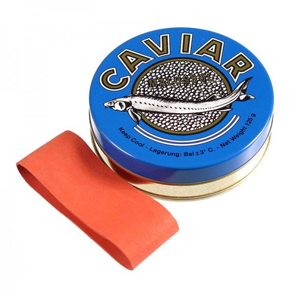 Deli-Vinos Kitchen Accessories - Kaviardose - dunkelblau mit Verschluss-Gummi ø 8 cm für 125g Kaviar