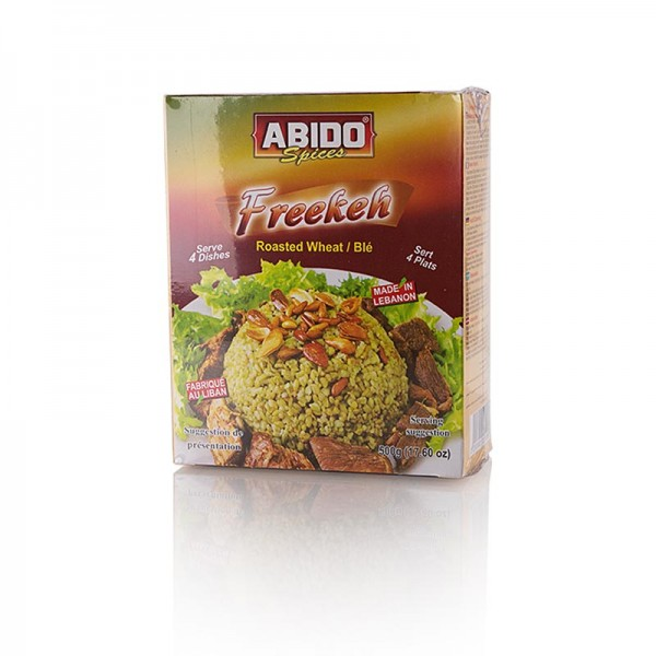Abido - Freekeh (Farik Frikeh Firik) grüner gerösteter Weizen Abido