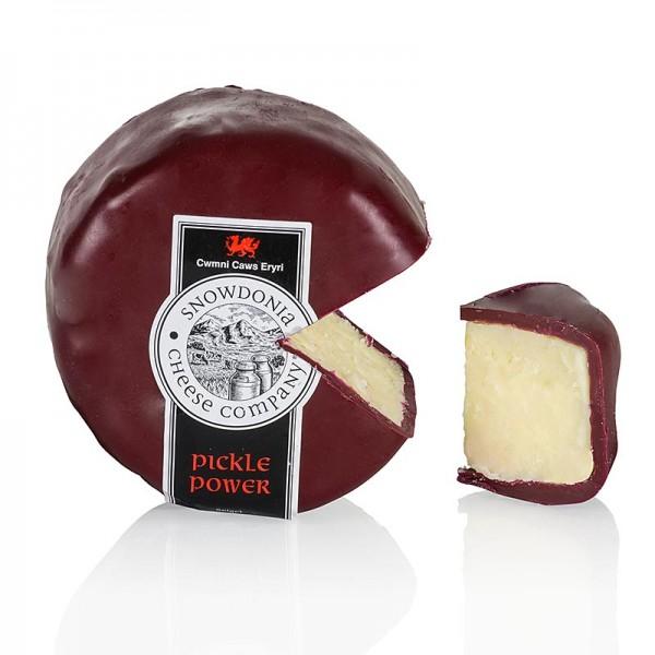 Snowdonia - Snowdonia - Pickle Power Cheddar Käse mit eingelegten Zwiebeln brauner Wachs